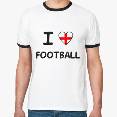 Футболка Ringer-T Я люблю английский футбол