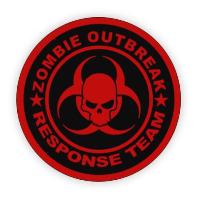 Костер (подставка под кружку) Zombie outbreak response team