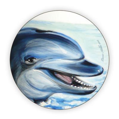 Костер (подставка под кружку) Дельфины