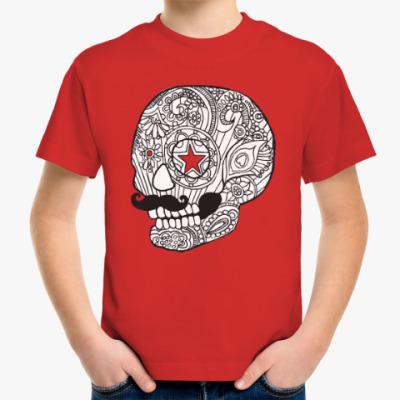 Детская футболка Череп с усами