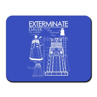 Коврик для мыши Dalek plan