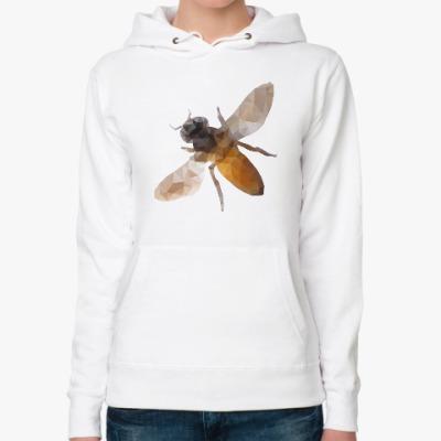 Женская толстовка худи Пчела / Bee