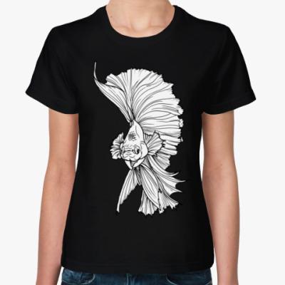 Женская футболка Рыба