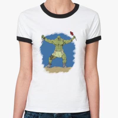 Женская футболка Ringer-T супермутант