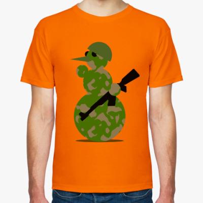 Футболка Военный снеговик