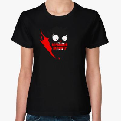 Женская футболка Угольный кот