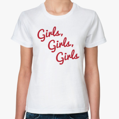 Классическая футболка Girls Girls Girls / Mötley Crüe