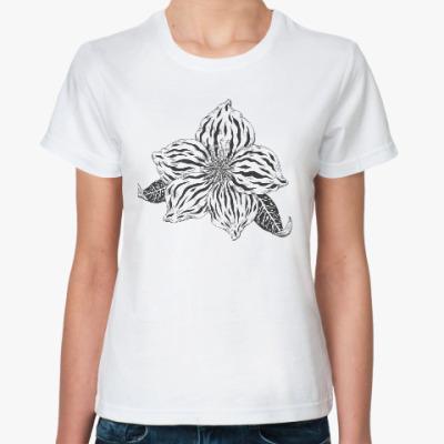 Классическая футболка Цветок фэнтези