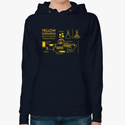 Женская толстовка худи Yellow Submarine