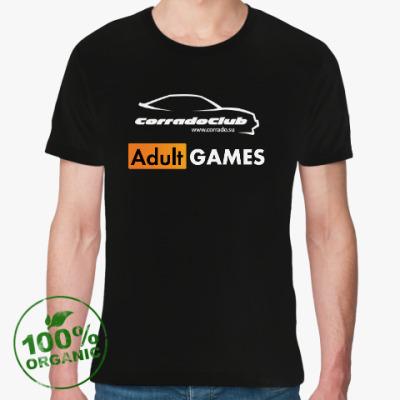Футболка из органик-хлопка Футболка ClubAdultGAMES из органик-хлопка (черная)