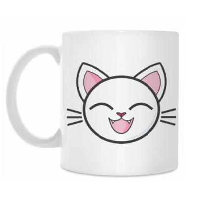 Кружка Белый кот