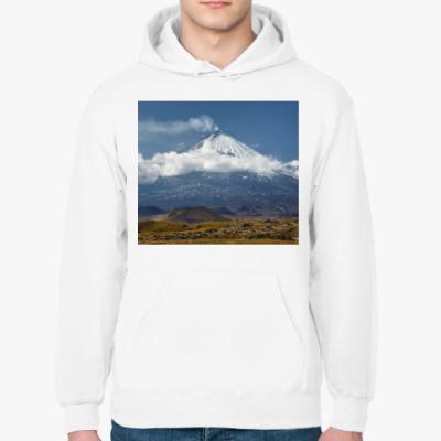 Толстовка худи Ключевской вулкан, Камчатка