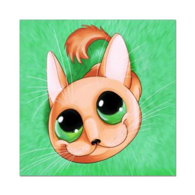 Наклейка (стикер)  (котёнок)