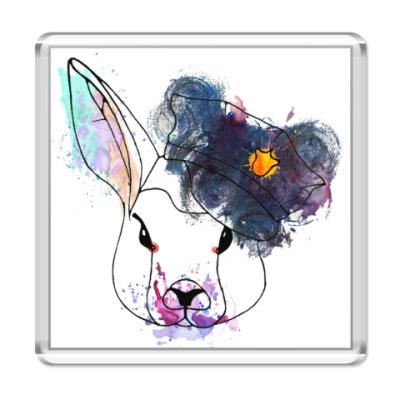 Магнит Кролик в фуражке