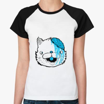 Женская футболка реглан Drop dead fake