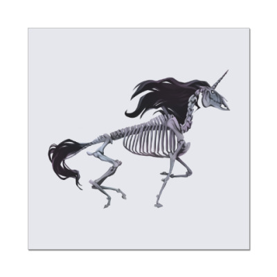 Наклейка (стикер) Скелет Единорога