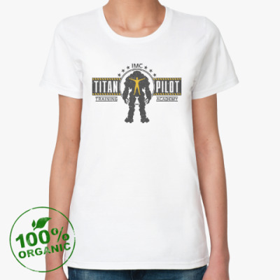 Женская футболка из органик-хлопка Battlefield Titan Pilot