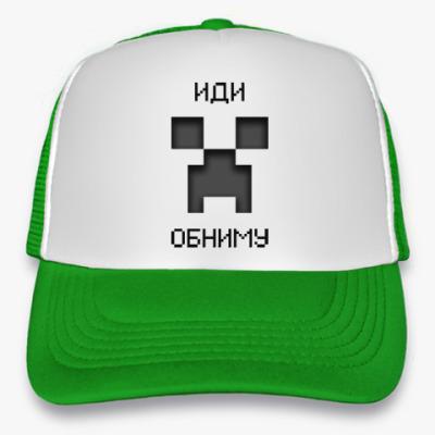 Кепка-тракер Иди Обниму Minecraft Creeper