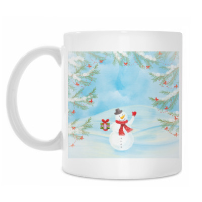 Кружка Зимнее настроение / Снеговик