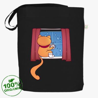 Сумка Рыжий кот и дождь за окном