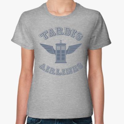 Женская футболка Tardis Airlines