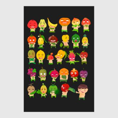 Постер Фрукты, Овощи и Ягоды