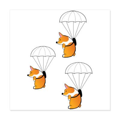 Виниловые наклейки смешные собаки корги