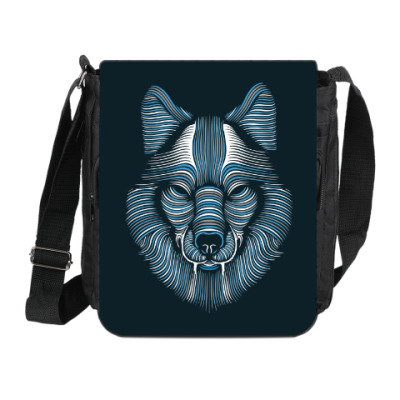 Сумка на плечо (мини-планшет) Волк