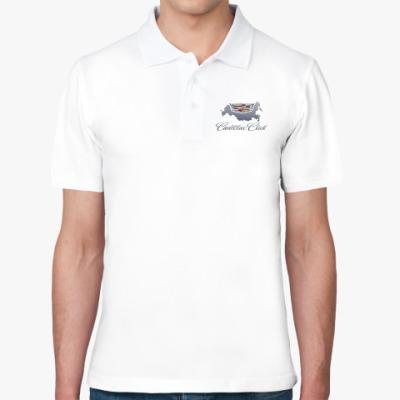 Рубашка поло Мужская рубашка поло, белая ПЕЧАТЬ