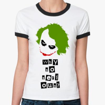 Женская футболка Ringer-T Джокер