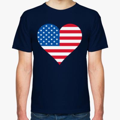 Футболка USA Heart