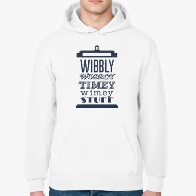 Толстовка худи Wibbly Wobbly Timey Wimey Stuf