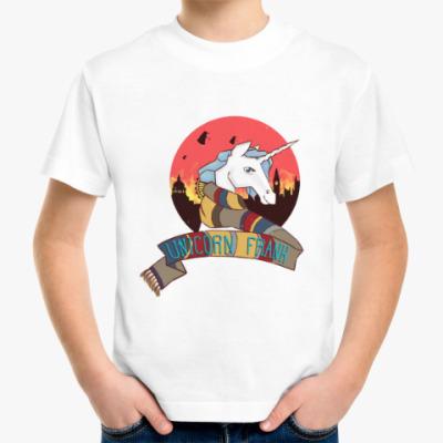 Детская футболка Рождественский Единорог в стиле Доктора Кто