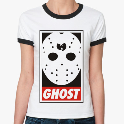 Женская футболка Ringer-T  Ghost Wu tang