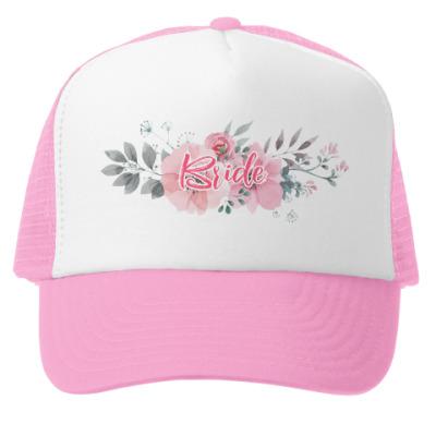 Кепка-тракер Невеста / Bride / Цветы