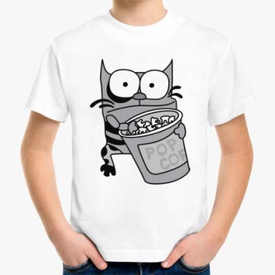 Детская футболка Упячка Кот