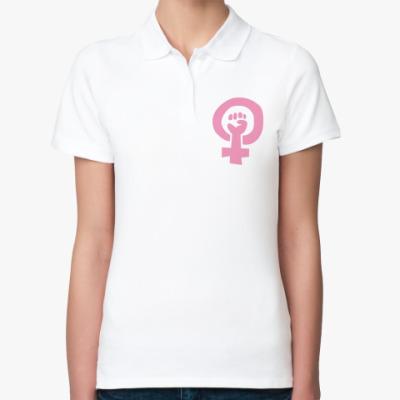Женская рубашка поло Лесби сила