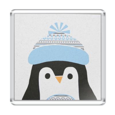 Магнит Новогодний Пингвин