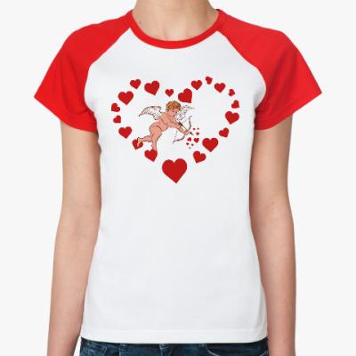 Женская футболка реглан Амур
