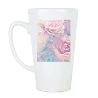 Чашка Латте Нежные розочки.