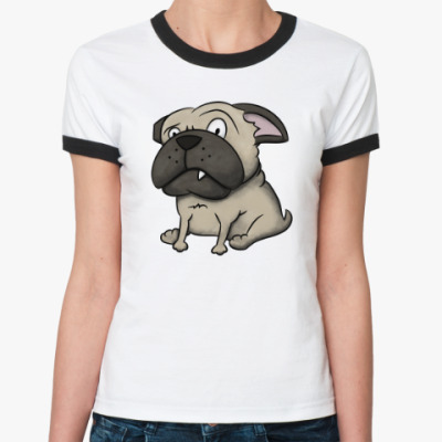 Женская футболка Ringer-T Собака