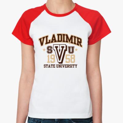 Женская футболка реглан   ВлГУ