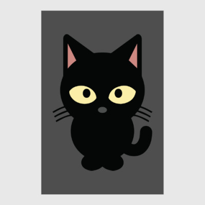 Постер Черный Котик