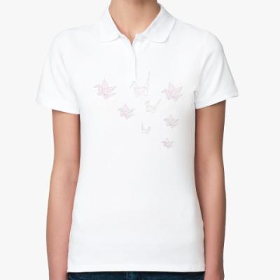 Женская рубашка поло Птицы Оригами