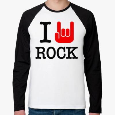 Футболка реглан с длинным рукавом I Love Rock