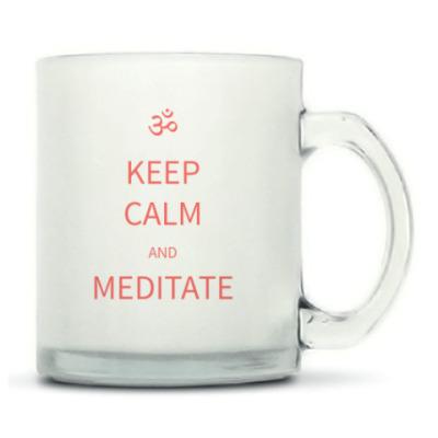 Йога. Keep Calm and Meditate (матовая)