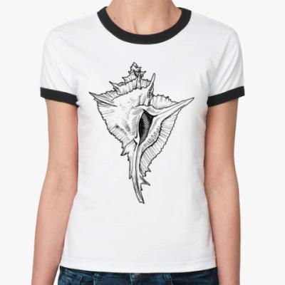 Женская футболка Ringer-T Ракушка