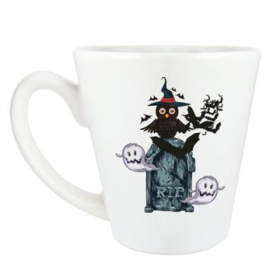 Чашка Латте Хэллоуин 31 октября