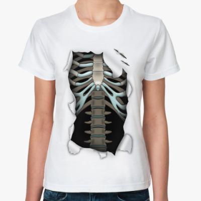 Классическая футболка 'Скелет'