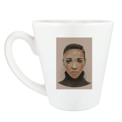 Чашка Латте Эфиопская девушка